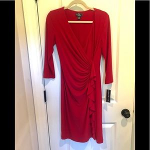 NWT AMERICAN LIVING FAUX WRAP STRETCH DRESS SZ 6